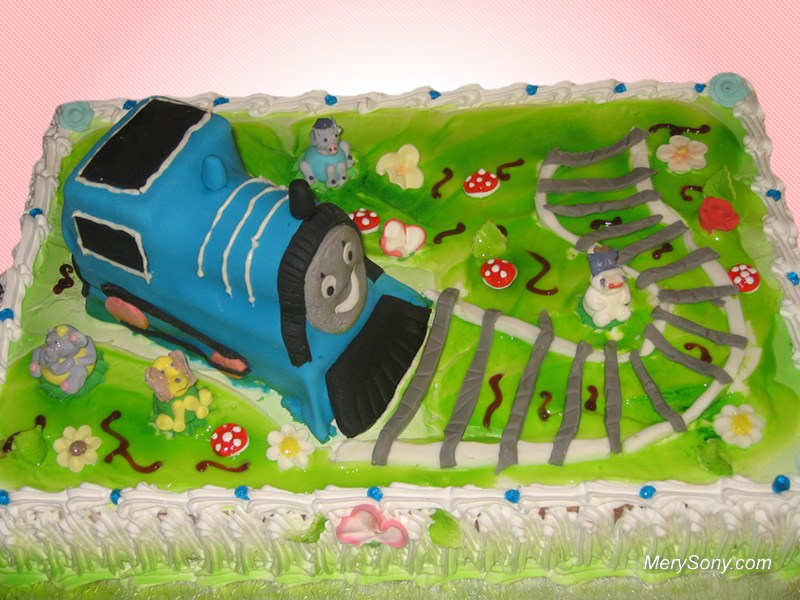 Super Cake Thomas And Friends Birthday Cake London Funny Birthday Cards Online Overcheapnameinfo