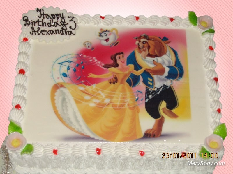 Cake Beauty and the Beast Birthday Cake London